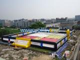 Campo di football americano gonfiabile del sapone di calcio della corte interessante di gioco del calcio da vendere