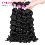 O melhor cabelo Curly malaio não processado de venda do Virgin