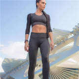 熱い販売2PCS/Setの女性のヨガは適性継ぎ目が無いBra+Pantsのレギングの体操の試しのスポーツの摩耗をセットする