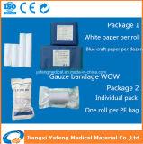 100%年の綿のさまざまなサイズの医学のガーゼの包帯ロール