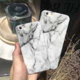 Tampa macia da caixa do telefone da textura de mármore magro TPU para iPhone7