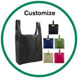 La insignia de encargo hizo bolsos de compras impresos plástico plegables reutilizables