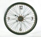 Часы стены металла велосипеда круглые для домашнего украшения