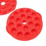 Molde material del silicón de la categoría alimenticia del certificado del nuevo producto FDA/molde del chocolate/molde del pudín/molde del Lollipop/bandeja del cubo de hielo