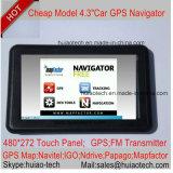 "Cheap Factory Sale 4.3 ""Car Portablet Satnavi GPS Navigator Built-in 128MB RAM 8GB Flash Support Bluetooth, ISDB-T; AV-in pour caméra de stationnement arrière; Navigation GPS"