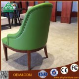 Cadeira de restaurante de madeira maciça de couro genuíno de alta qualidade