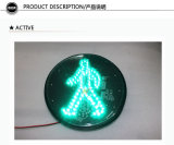 semáforo peatonal del módulo LED del hombre verde del trabajo de 300m m