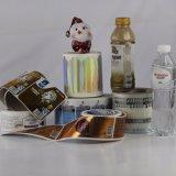 Escritura de la etiqueta modificada para requisitos particulares impresión de la etiqueta engomada de la alta calidad para el embalaje del agua