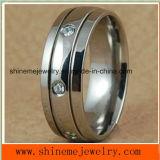 316L los anillos Jewellry acero inoxidable de titanio (TR1820)