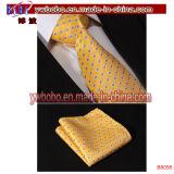Brown Polka DOT soie Slim cravate en mouchoir pour homme étroit (B8055)