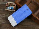 Случай мобильного телефона Flip Folio Kickstand зерна самого нового случая бумажника деревянный