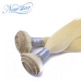 Выдвижения блондинкы человеческих волос Remy верхнего качества прямые