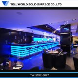 Iluminado en azul con barra de bar moderno de muebles Night Club
