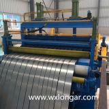 Línea de acero de la máquina que raja de la bobina