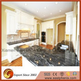Шикарные черные Polished Countertops гранита Worktops кухни