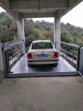 車は駐車および上昇のために4郵便車の上昇を使用した