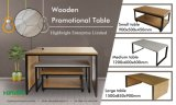 Magasin de vêtements promotionnels Afficher Table en bois