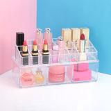 Прозрачная акриловая коробка хранения губной помады верхней части таблицы косметическая