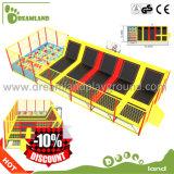 Heißer und populärer Spaß-große Innenhandelstrampoline für das Verkaufs-Federelement-Springen