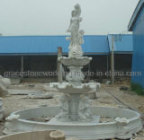 Hunan White Marble Fountain per il giardino Decoration