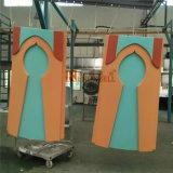 Oranje Kleur PVDF/PE Met een laag bedekte Bekledingspanelen van het Aluminium Voor Voorzijde