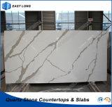 SGSのレポート(Calacatta)を用いるテーブルの上の虚栄心の上のための設計された石造りの水晶平板