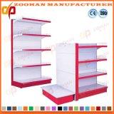 Singola scaffalatura di parete d'acciaio personalizzata parteggiata Manufactured del supermercato (Zhs589)