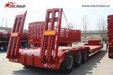 貨物輸送のためのタイヤによって露出される二重低下のトレーラー
