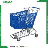 고품질 180lsupermarket 식료품류 플라스틱 쇼핑 카트
