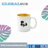 la sublimazione di colore Two-Tone 11oz soppressione l'oro di ceramica della tazza di caffè di promozione