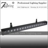 18*18W Barra de LED RGBWA Arruela de parede LED UV Iluminação de casamento