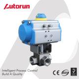 Válvula de bola de alta temperatura accionada neumática