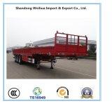 60t 12.4m Semi Aanhangwagen van de Lading van de Zijgevel Flatbed voor Verkoop