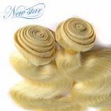 Выдвижения блондинкы человеческих волос Remy объемной волны верхнего качества