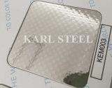Feuille Kem010 gravée en relief par couleur d'argent d'acier inoxydable pour des matériaux de décoration