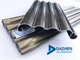 Perfil de aluminio de una sola capa para rodillos de la puerta de garaje obturador