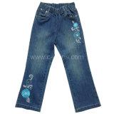 Nuevo Diseño 100% Algodón Denim pantalón de Jean para niños chica.