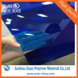 Лист PVC прозрачного голубого цвета твердый для украшения