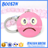 Do costume liga Emoji Keychain do metal 3D Semi