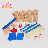 Castillo de madera del juguete de los nuevos edificios creativos más calientes de los niños para los cabritos W06A257