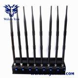 Potente ajustable de 8 bandas 3G 4G móvil VHF UHF GPS WiFi jammer