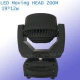 19X12W 4 in 1 indicatore luminoso capo mobile del fascio dello zoom del quadrato LED