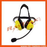 La doble Earmuff XLR auriculares con cable de desconexión rápida