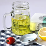 Kundenspezifisches Küche-Geschenk-Zitrone-Gurke-Maurer-Glas-Glas mit Kappe