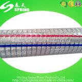 Manguito espiral reforzado plástico de la irrigación de la descarga industrial del tubo del alambre de acero del PVC