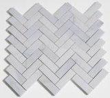 Mattonelle di mosaico di marmo bianche esagonali