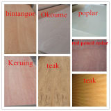4/6/9/12mm Bintangor/Okoume/Poplar/Cherry/Teak/Birch lamelliertes Furnierholz für Möbel