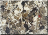 Bancadas de pedra artificiais coloridas de quartzo da decoração de China