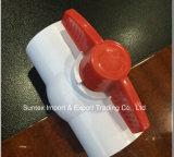 Valvola a sfera del PVC, valvola a sfera di plastica