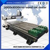 corte del grabado de madera el repujado 3D que talla el ranurador del CNC